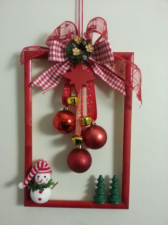 Legende  Last Minute DIY Weihnachtsschmuck mit kleinem Budget - Bilderrahmenkränze