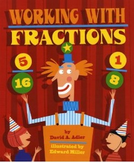 Working with #Fractions picture book - it graphically explains the concepts using illustrated story problems. #math