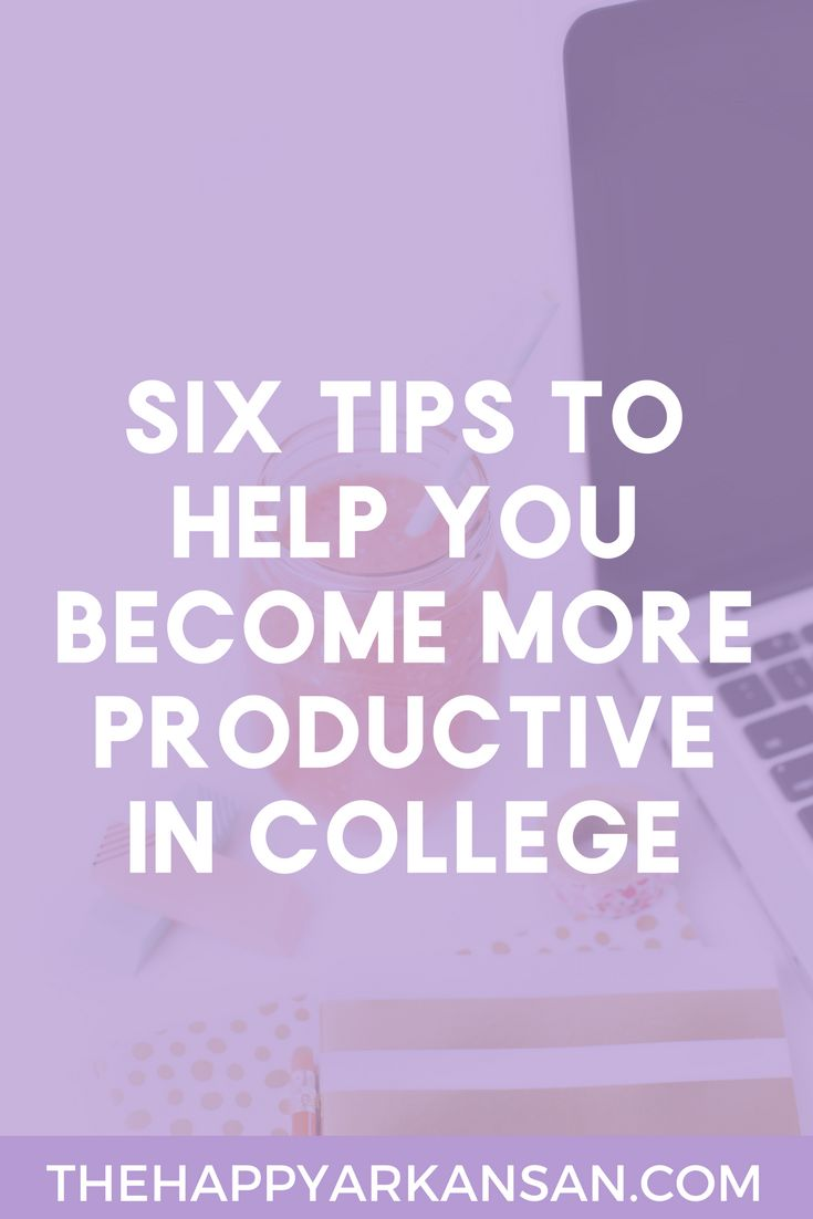 How To Be More Productive In College | Do you want to be more productive? Check out my blog for 6+ tips on how to up level your college productivity so you can get more work done and still have time to hang out with your friends and get involved in college.
