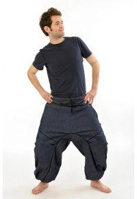 Sarouel jean babacool chic Byanjana - K1301 - 100% jean et coton doux du Népal. Aussi bien pour homme que pour femme, idéal pour la mi-saison et l'été.