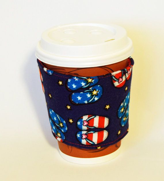 Insulated Coffee Cup Sleeve / Cozy by GiddysBitsandPieces on Etsy