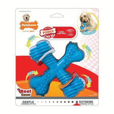 Nylabone Power Chew Dura Chew X Bone Dog Chew Toy Beef