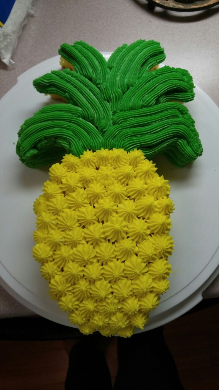 Pineapple shaped cake