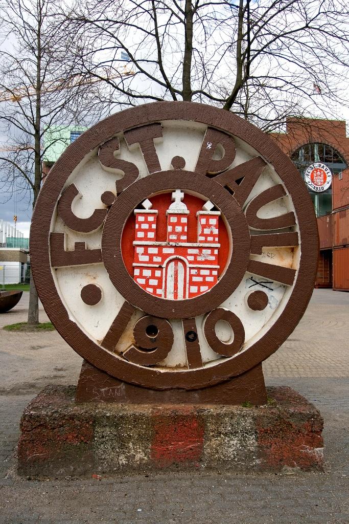 Der Eingang zum Millerntor-Stadion.