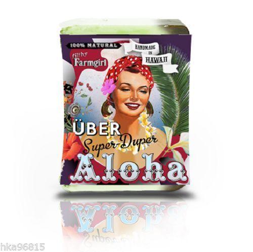 Über Super Duper Aloha Natural Large Bar Soap Palmarosa Patchouli Kava Hibiscus