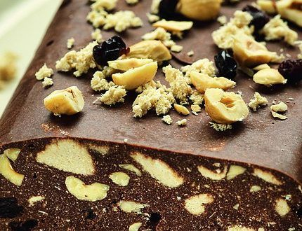 Σοκολατένιος κορμός…. με χαλβά, φουντούκια και σταφίδες!! – Timeout.gr