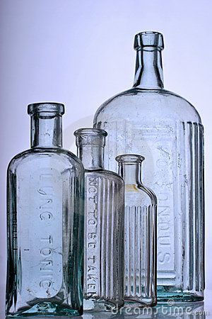 Antique bottles by Tracy Hebden, via Dreamstime