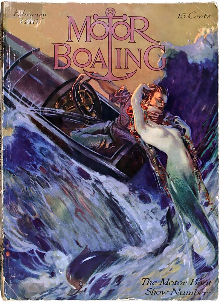 Cover Of Motor Boating February 1916 The Motor Boat Show
