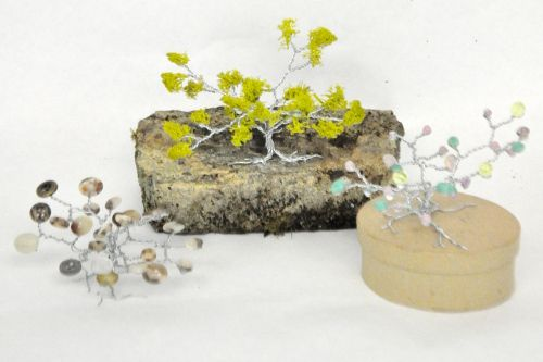 Bring nature indoors as the weather cools down with this fun project! Kids and adults can enjoy creating these gorgeous trees to top boxes, add to a terrarium, or decorate a bookshelf. Use up old beads and buttons, or create a unique memento with collected shells or rocks. The possibilities are endl