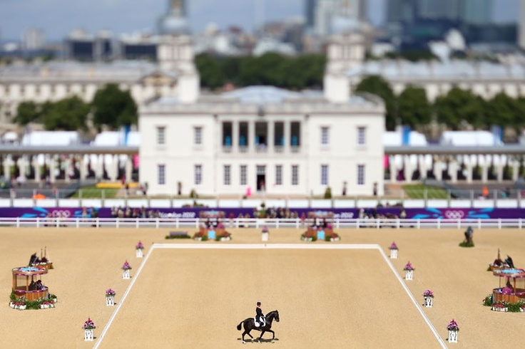 Carl Hester of Great Britain riding Uthopia competes in the dressage event in Greenwich Park. Photo by Alex Livesey