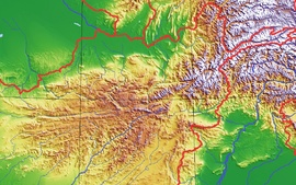 The Hindu Kush or Paropamisadae is an 800 km (500 mi) long mountain range that stretches between central Afghanistan and northern Pakistan. The highest point in the Hindu Kush is Tirich Mir (7,708 m or 25,289 ft) in Chitral District of Khyber Pakhtunkhwa, Pakistan.