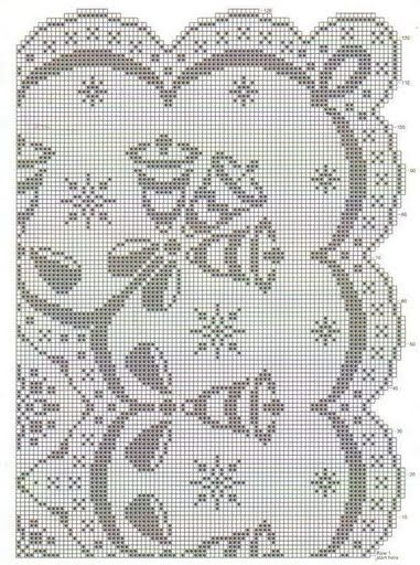 diseño de mantel de navidad: Mantels De Croch Navidad, Crochet, Crochet Christmas, Crochet Tablecloths Patterns, Filet Crochet, God Born, Christmas Filet, Christmas Tablecloths, Crochet Filet