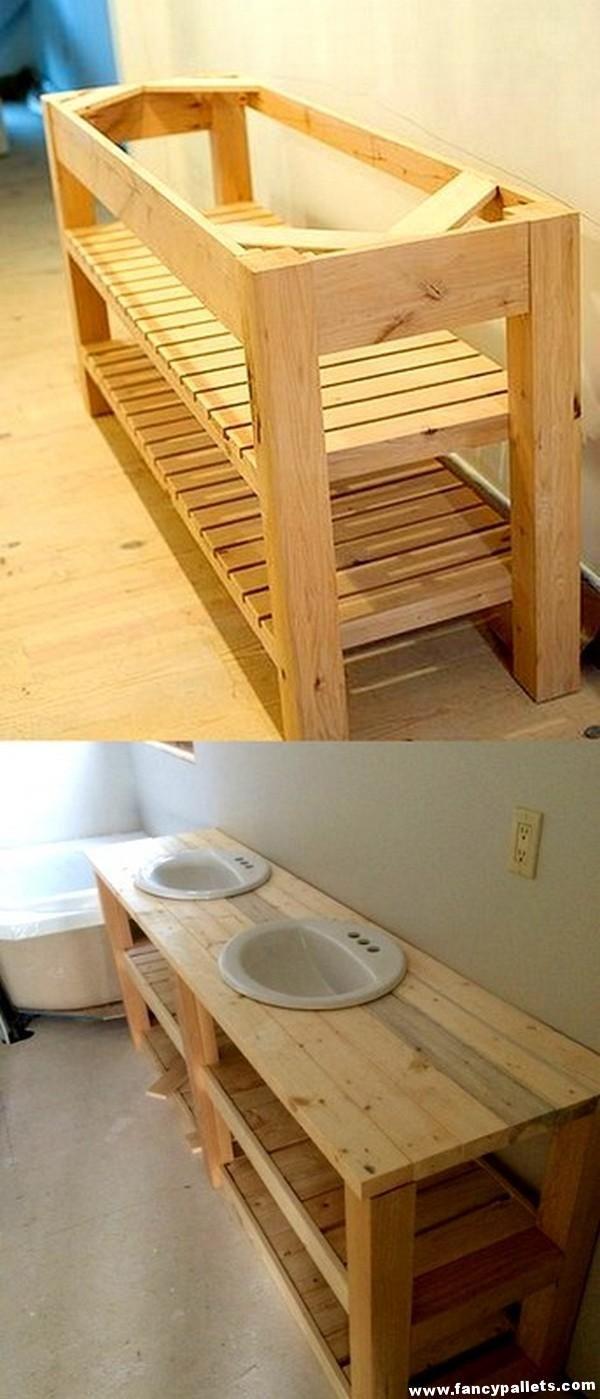 15 Unique Pallets Bathroom Furniture Ideas And Crafts Diy Pallet