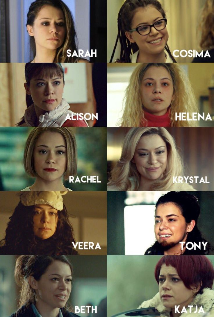 The clones on Orphan Black played by Tatiana Maslany (@OrphanBlack) | Twitter