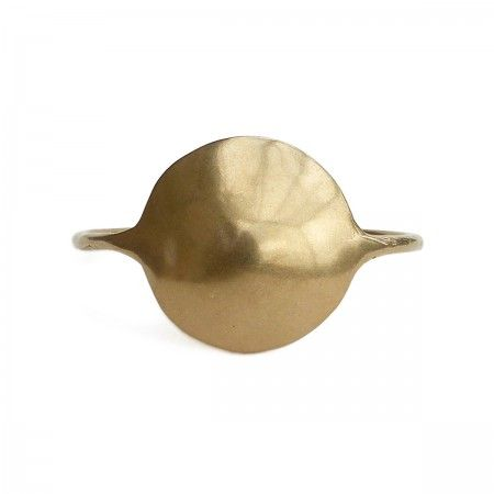 """This open """"Concho"""" cuff is the statement piece for your wrist. Made completely of brass in Italy, the piece is nickel free. End to end the cuff measures 15cm. """"Concho"""" dimensions are 3,5x3,5cm."""