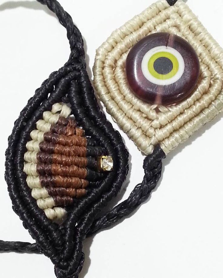 macrame evileye bracelet