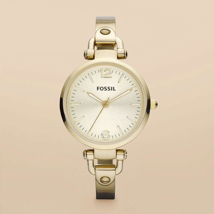 FOSSIL® Watch Collections Georgia Watches:Women Georgia Stainless Steel Watch – Gold-Tone ES3084Stainless Steel Watches, Fossil Watches, Style, Woman, Fossils Watches, Gold Ton, Georgia Stainless, Fossils Georgia, Fossils Women
