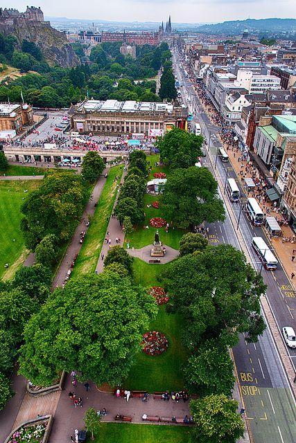 Princes Street Gardens, Edinburgh,Scotland