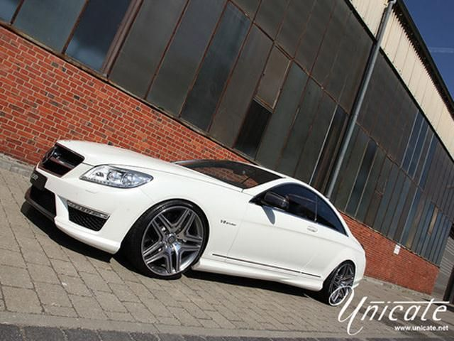 White MERCEDES CL63 UNICATE Tuning