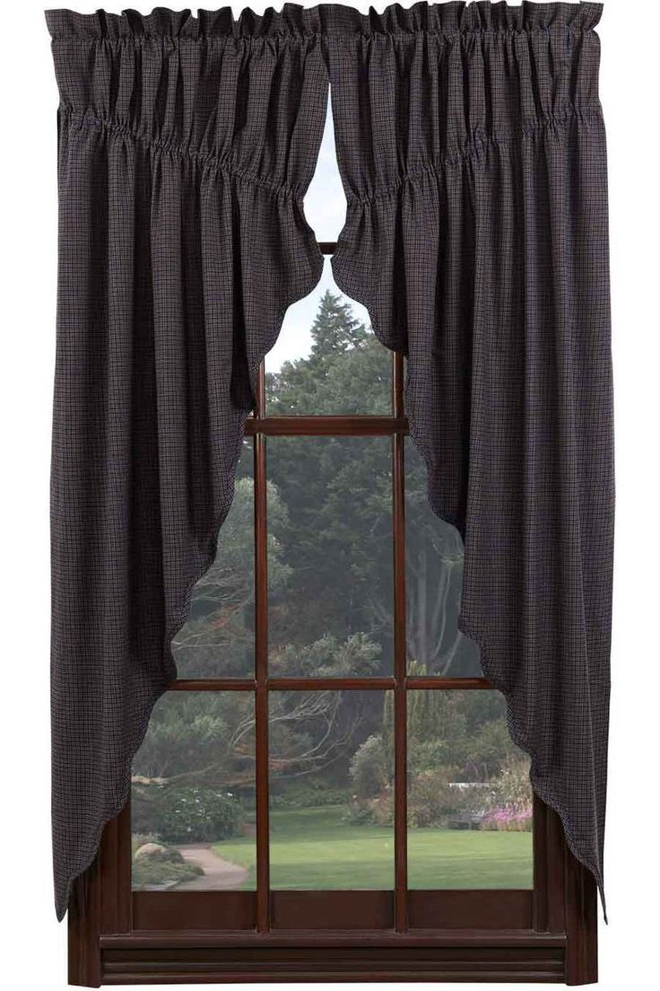 Primitive curtains for kitchen - Arlington Prairie Curtain Set