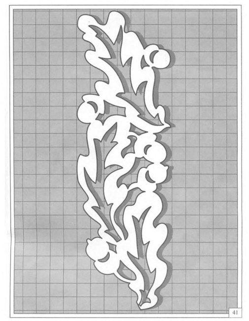 Трафареты узоры для окон шаблоны
