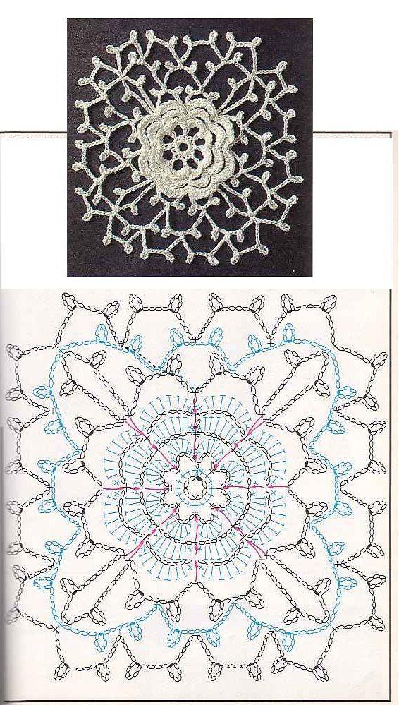 lovely crochet!  #crochet #motifs