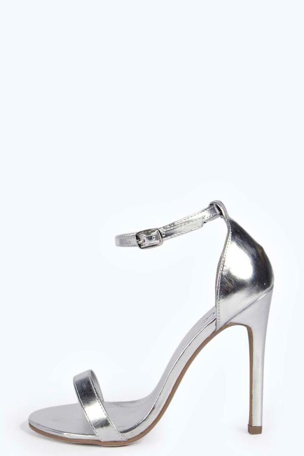 Eliza Metallic Skinny Barely There Heels