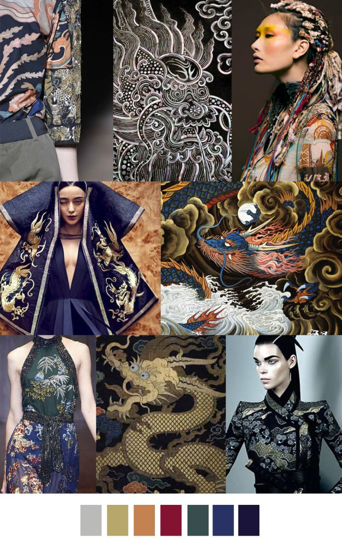 ENTER THE DRAGON colour and pattern palette. For more follow www.pinterest.com/ninayay and stay positively #pinspired #pinspire @ninayay