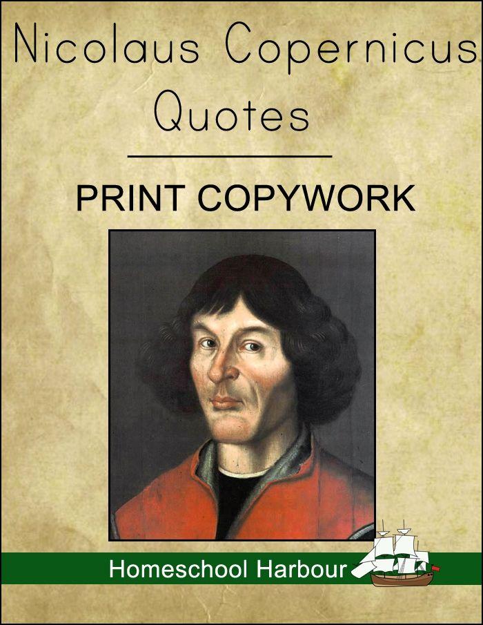 Nicolaus Copernicus Quotes Print Copywork Notebook - Homeschool Harbour | Astronomers | CurrClick