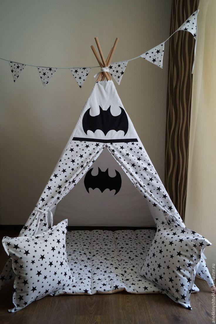 Купить Вигвам Бэтмен - вигвам, вигвам для детей, типи, Палатка, детская комната, для мальчика