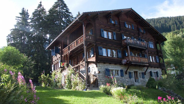 """Historic Chalet-style holiday flat """"Villa Mon Repos"""" for 11 guests in Disentis, Switzerland"""