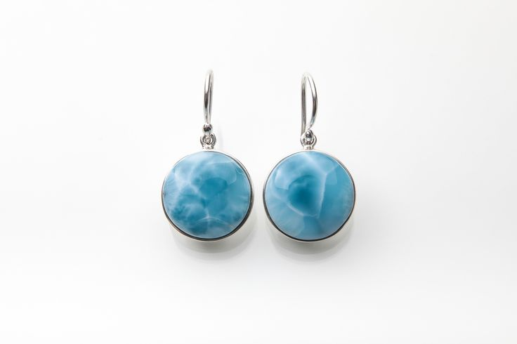 earrings sterling company lamevallar l landing long net oval larimar silver