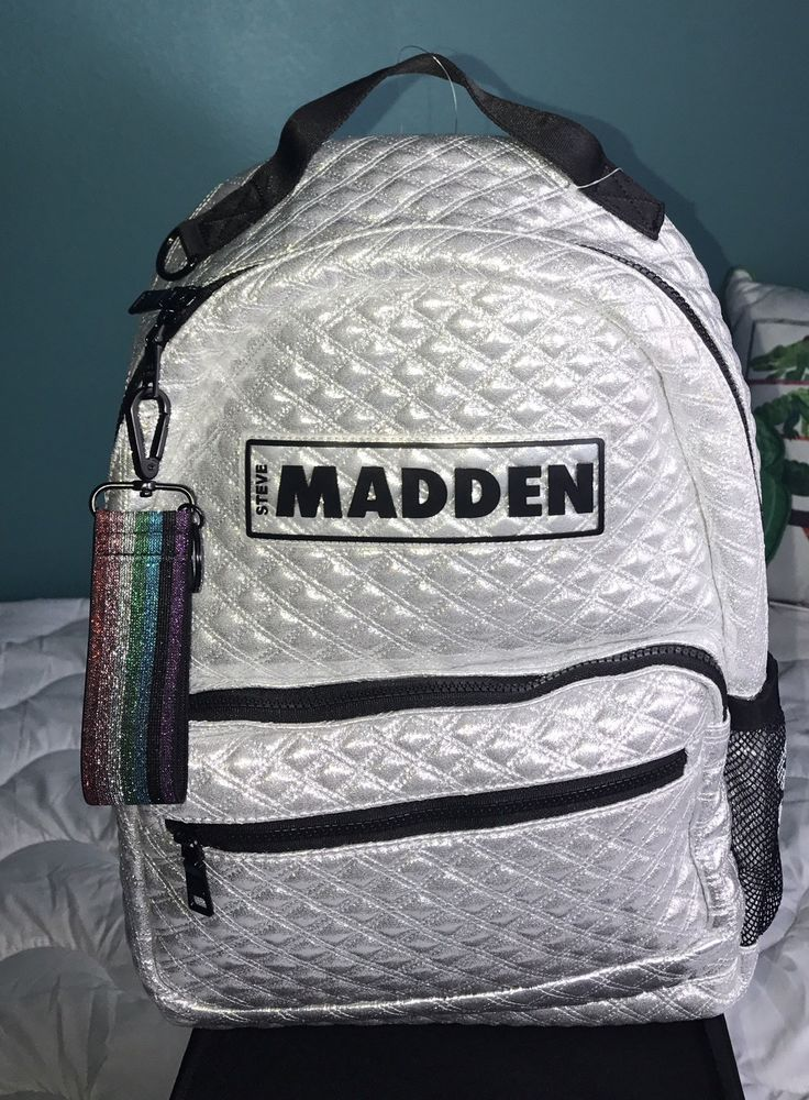 db2e13a75d Steve Madden Backpack Silver Quilted NEW WT Super cute fashion