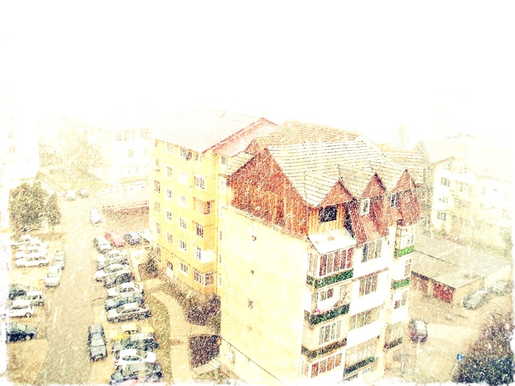 snowing - from my room