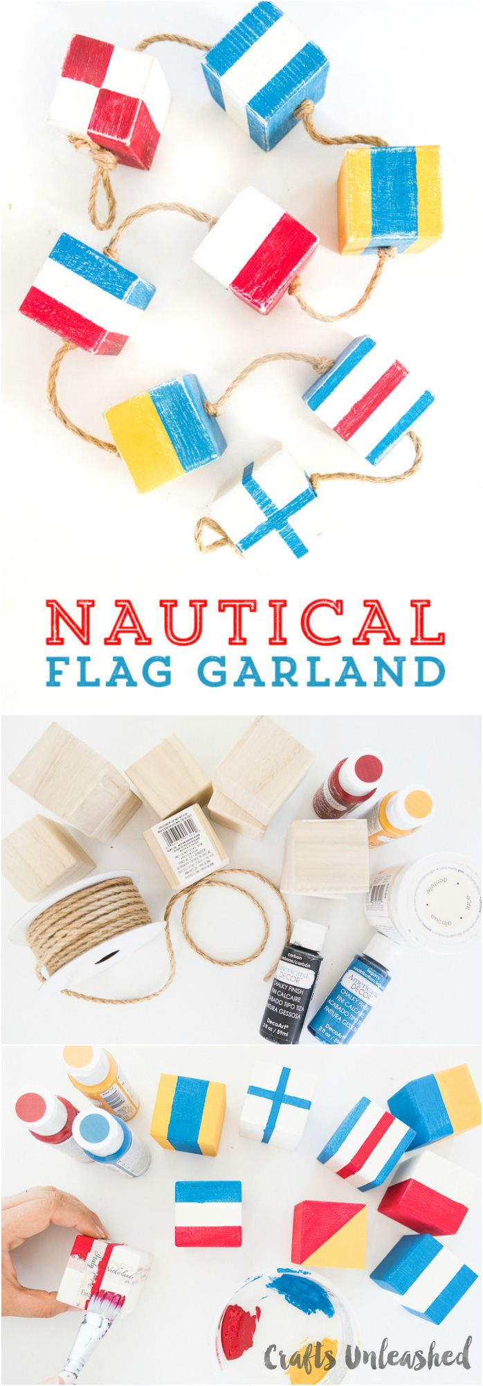 Vector bunting flags lovely celebration card with colorful paper - Nautical Diy Flag Garland