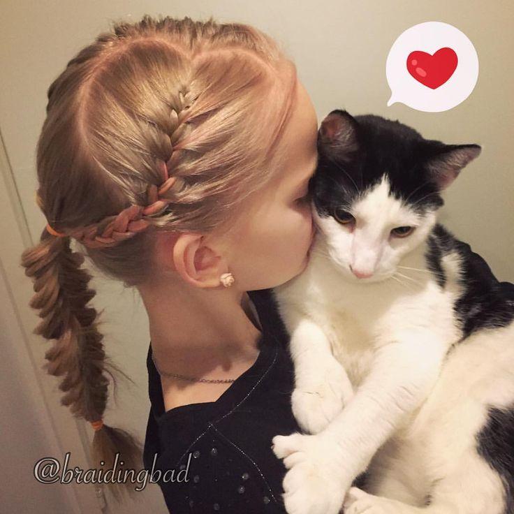 """Heli sanoo Instagramissa: """"❤️ Love is in the h/air ❤️ . #loganthepaperslayer #ourloveisinthehaircontest #hearthairstyle #heartbraid #heartbraids_valentines #braid #braidideas #instabraids #letti #valentinesday #lettikampaus #hairdo #hairstyles #flette #hemingwaycat #braidsforgirls #featuremeisijatytot #featuremejehat #hotbraidsmara #braidsforlittlegirls #instacats#catsofinstagram #featureaccount_ #braidinginspiration #perfecthairpics #inspirationalbraids"""""""