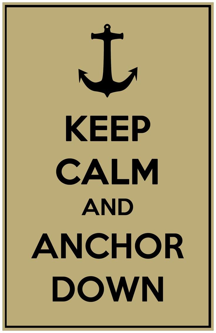 Vanderbilt University (Vandy) Keep Calm  Anchor Down Print.