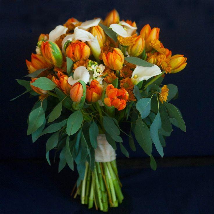 tulip, tulips, тюльпан, тюльпаны, калла, каллы, белые каллы, calla lilly, white calla, orange tulips, orange and white, wedding bouquet, bridal, bride, bouquet, букет невесты, свадьба, букет, подарок, gift