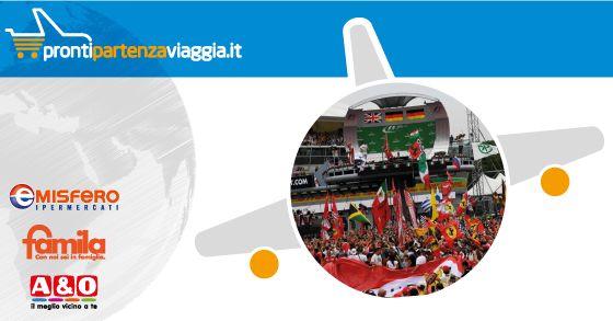 PRONTI, PARTENZA, VIAGGIA! Destinazione sport! Gran Premio F1 d'Italia - Monza 03/09/17 da € 360,00 Scopri di più su