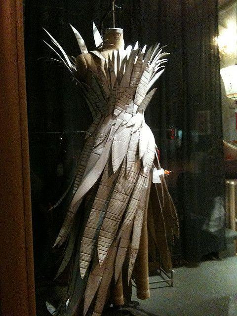 Cardboard dress by staticfilter, via Flickr