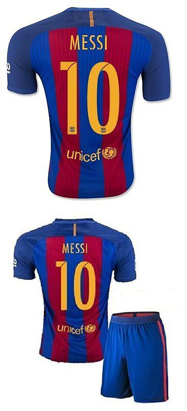 Youth 159099: Fs Barcelona Messi Neymar Suarez Home Kid Soccer Jersey And Matching Shorts Latest -> BUY IT NOW ONLY: $38.85 on eBay!