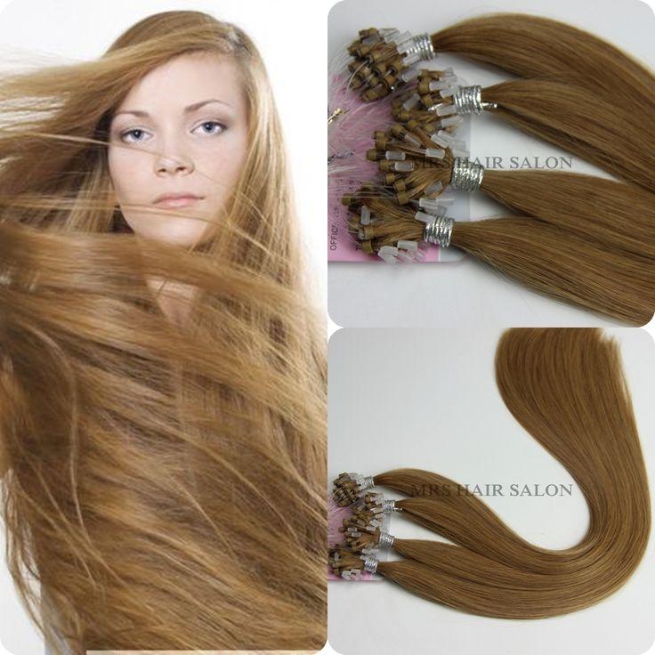 4 Dark Brown Micro Loop Hair Extensions Ring 100pcs Use Best