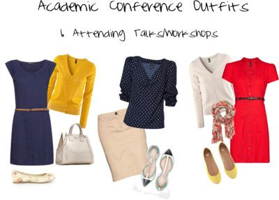 Academic Conf outfits; If you like these and this is a topic that interests you, stay tuned for this week's academic conference series at www.fashionpas.wordpress.com