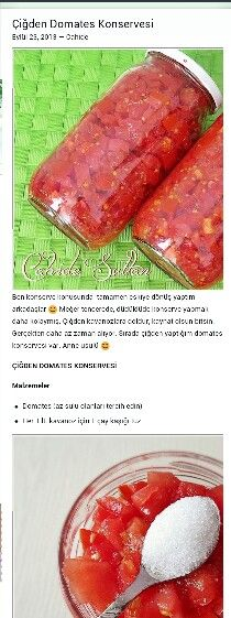 Alintidir cigden domates konservesi