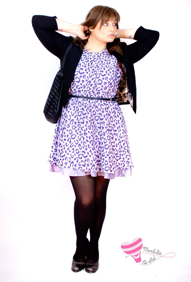 Curvy Outfit, (Lilac) animalier print - dress by asos