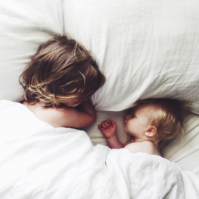 sibling snuggles.