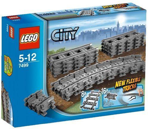 LEGO – 7499 – City – Jeu de construction – Rails flexibles: Construis un circuit avec des virages impossibles Nombre de pièces : 24 Âges :…