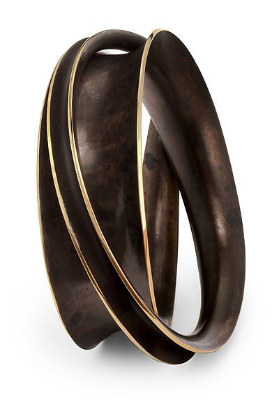 Double Wrapper Bangle by Nancy Linkin: Bronze Bracelet available at www.artfulhome.com