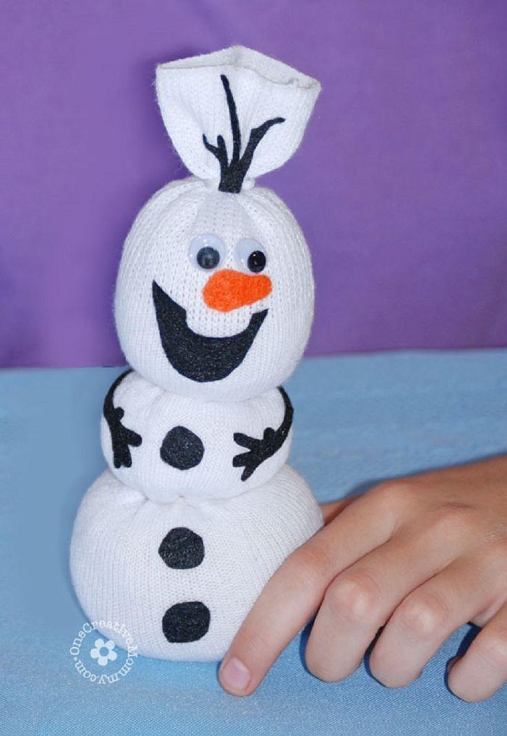 DIY Olaf Sock Snowman for Christmas