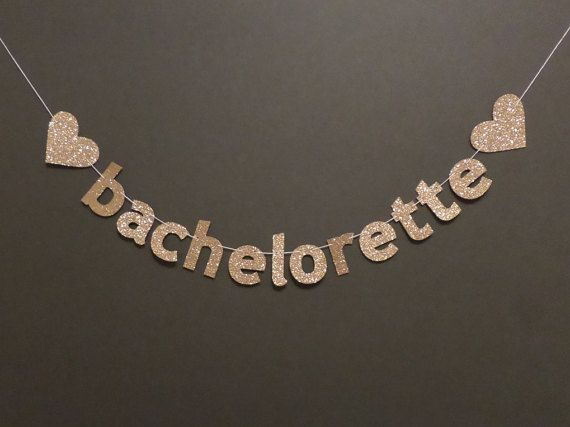 BACHELORETTE PARTY BANNER  4 glitter banner  wedding by Bannerize